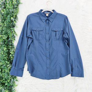 Duluth Trading Co Long Sleeve Button Front Shirt L